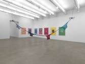 Brad Troemel<br /> Installation view<br /> <i>On View: Selections from the Troemel Collection</i>, 2015<br /> Zach Feuer Gallery, New York