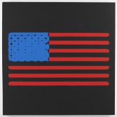 Mark Flood<br /> <i>Heating Element Flag</i>, 2014<br /> Inkjet print on canvas<br /> 48 x 48 inches<br /> 121.9 x 121.9 cm<br /> <br /> Booth 2.2
