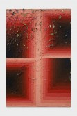 Julian Hoeber<br /> <i>Execution Changes #89B (CS, Q1, LLJ, DC, Q2, RMJ, DC, Q3, URJ, DC, Q4, LMJ, DC)</i>, 2014<br /> Acrylic on linen<br /> 42 x 28 x 2 inches<br /> 106.7 x 71.1 x 5.1 cm